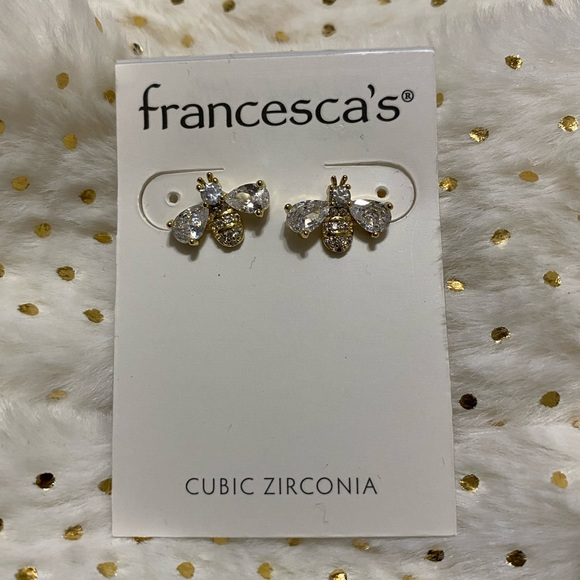 Francesca's Collections Jewelry - Francescas Bee Stud Earrings